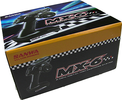 Sanwa MX-6 Radio + 2x RX-391W Waterproof Receiver