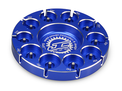 JConcepts Pinion Puck - Stock Range (27-36T in 48 Pitch) (Blue)
