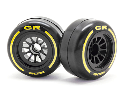 Ride F1 Front Rubber Tires GR Compound Preglued Asphalt (2pcs·Yokomo Label)