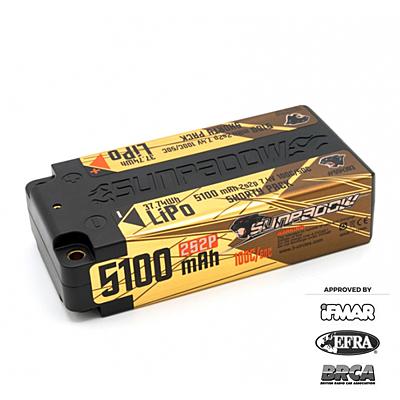 Sunpadow Shorty 5100mAh 7.4V 2S 100C/50C LiPo (4mm, 221g)