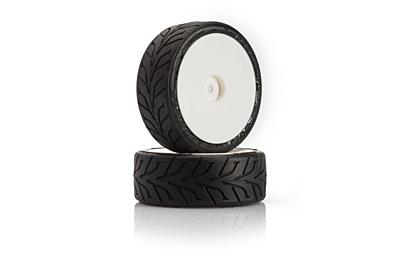 LRP VTEC Rain Tire DUNLOP D20, Pre-Glued (2 pcs)