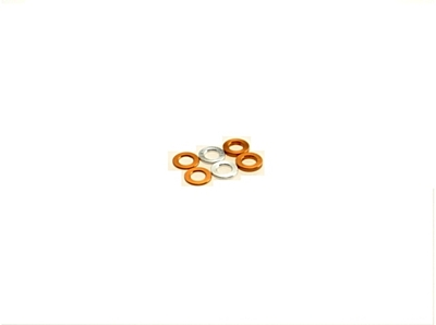 Hiro Seiko 3mm (0.5/0.75/1.0) Orange Alloy Spacer Set (6pcs·2pcs each)