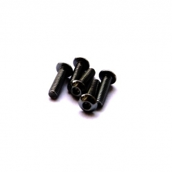 Hiro Seiko Alloy Hex Socket Button Head Screw M3x6 (Black·5pcs)