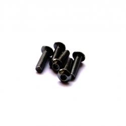 Hiro Seiko Alloy Hex Socket Button Head Screw M3x8 (Black·5pcs)