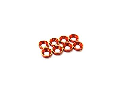Hiro Seiko 3mm Alloy Countersunk Washer (S-Size·Orange·8pcs)