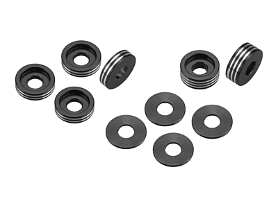Dirt Racing Products Recessed Ball-Stud Washer - Set (Black)