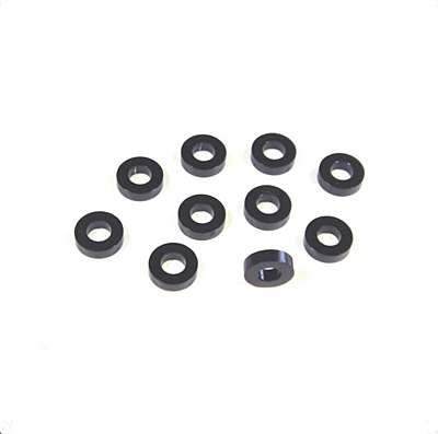Awesomatix SH1.75 - 6x3x1.75mm Spacer Black (10pcs)