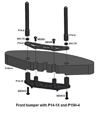 Awesomatix P14-1X - Lower Bumper