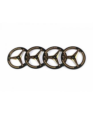 Arrowmax Alu Set-Up Wheel For Rubber Tires Black Golden (4pcs)