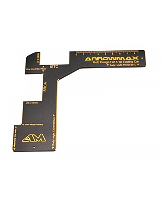 Arrowmax Regulation Gauge for 1/10 Electric Touring Cars Black Golden