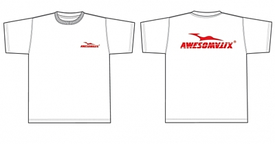 Awesomatix T-Shirt White +Red Print (M size)