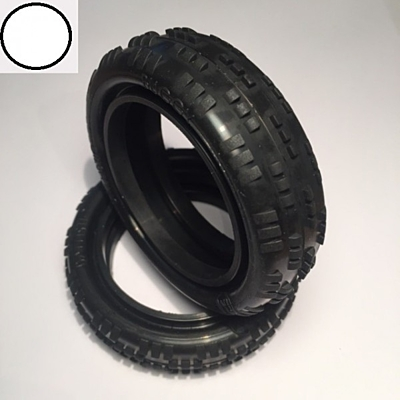 Ballistic Buggy 2wd Cut-Rib White Front Tyre (Dry)