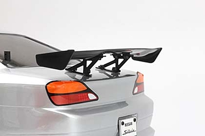 Yokomo Aluminum Wing Stay (Black/Low) for Drift Car