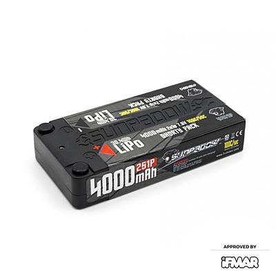Sunpadow LCG Shorty 4000mAh 7.6V 2S 100C/50C HV LiPo (4mm, 157g)