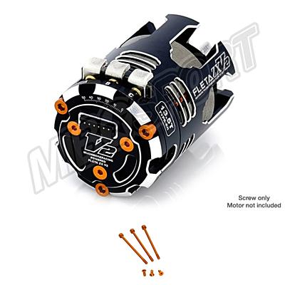 Muchmore FLETA ZX V2 Case & Timing Cap Aluminum Screws Orange (6pcs)