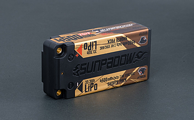 Sunpadow Shorty 4500mAh 7.4V 2S 120C/60C LiPo (4mm, 221g)