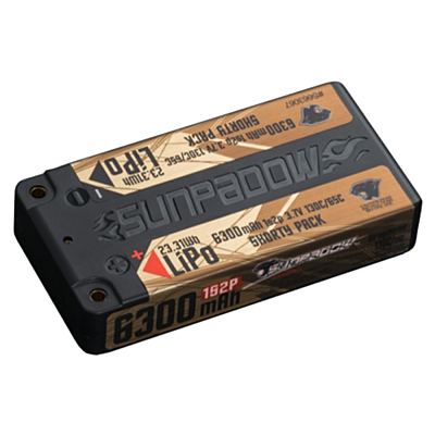 Sunpadow 6300mAh 3.7V 1S 130C/65C LiPo (4mm, 156g)