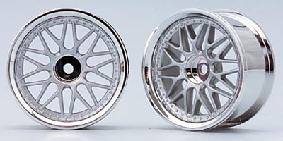 Yokomo 10-Mesh Wheel (Mat Silver)