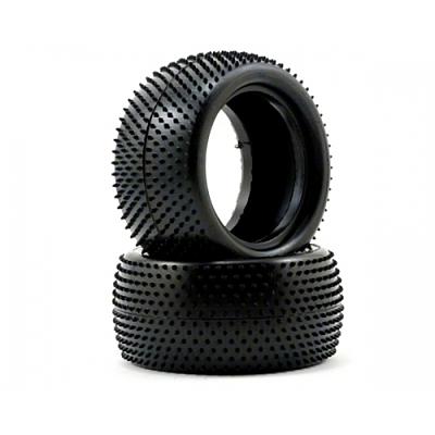 Schumacher Mini Pin -  Rear Tyres - Yellow (1 pair)