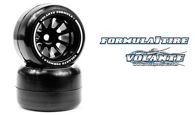 Volante F1 Rear Rubber Slick Tires Asphalt Soft Compound Preglued (Yellow·2pcs)
