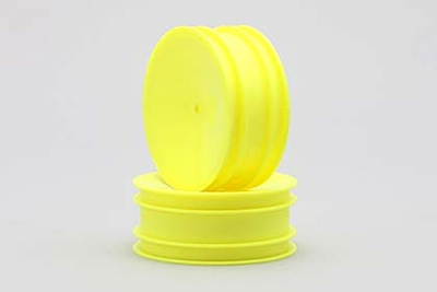 Yokomo Front Hex 12mm Wheel (Yellow) for YZ-2