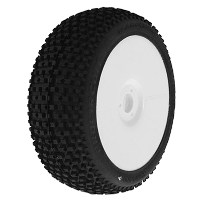 ProCircuit Marathon Sport (Soft Compound) Off-Road 1:8 Buggy Tires Pre-Mounted - White (2pcs)