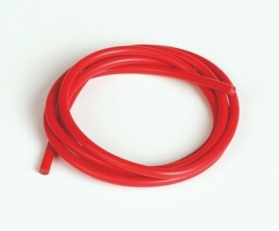 Graupner Silicon Wire Ø2.6mm, 1m, Red, 13AWG