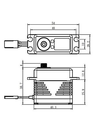 Savöx SB-2290SG Black Edition Monster Torque (0.13s/50.0kg/7.4V) Brushless Servo