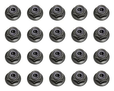 Associated Locknuts M3 Flanged (Black)