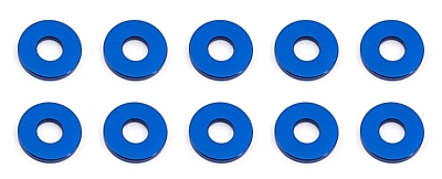 Associated Ballstud Aluminum Washers, 7.8x1.0mm (10pcs·Blue)