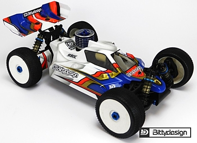 Bittydesign Force Clear body for AE RC8B3 (1:8 Offroad)