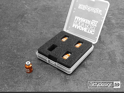 Bittydesign Magnetic Body Post Marker Kit - ORANGE