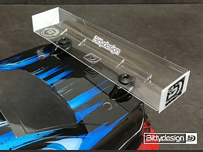 Bittydesign Rear Hard Wing 190mm - Modified Spec