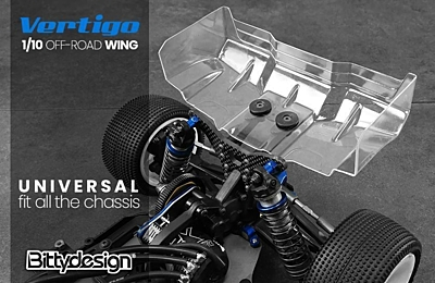 Bittydesign Vertigo 1/10 Off-road 1mm wing Pre-cut