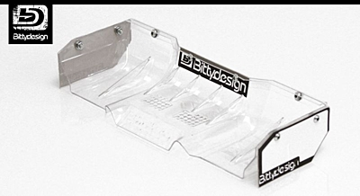Bittydesign Zefirus 1/8 Buggy & Truggy Lexan Wing Set (Clear)