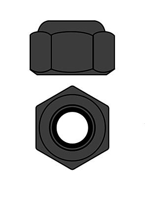 Corally Aluminium Nylstop Nut M2 (Gun Metal·10pcs)