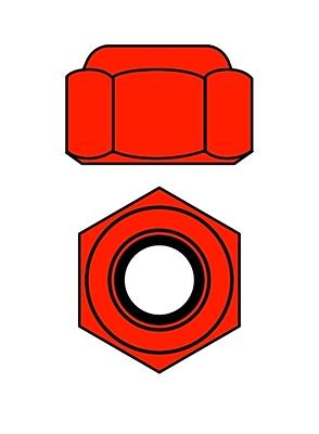 Team Corally - Aluminium Nylstop Nut - M3 - Red - 10 pcs