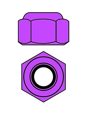 Corally Aluminium Nylstop Nut M4 (Purple·10pcs)