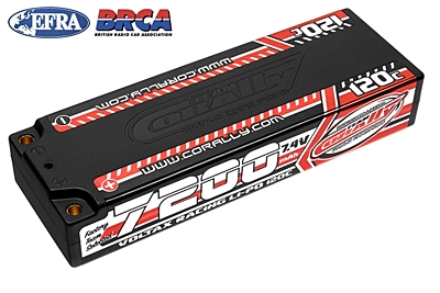 Voltax 120C LiPo Battery - 7200mAh - 7.4V - Stick 2S - 4mm Bullit