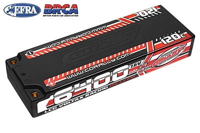 Voltax 120C LiPo HV Battery - 6400 mAh - 7.6V - LCG Stick 2S - 4mm Bullit
