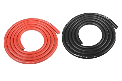Ultra V+ Silicone Wire - Super Flexible - Black and Red - 10AWG - 2683 / 0.05 Strands - OD
