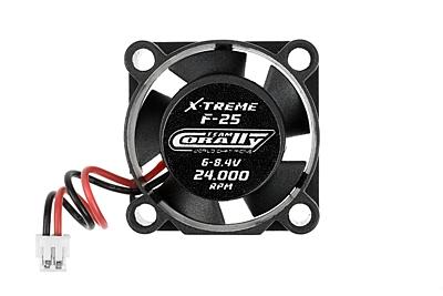 ESC Ultra High Speed Cooling Fan 25mm - 6v-8,4V - Dual ball bearings - ESC connector