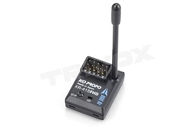 KO Propo KR-415FHD (2.4GHz, 4-Channel, FHSS, HCS) Short Antenna Receiver