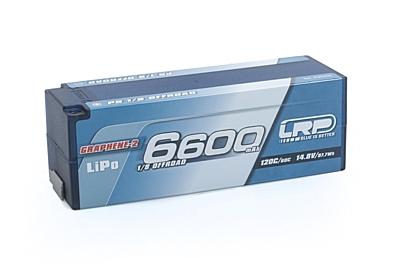 LRP Graphene-2 Offroad Stock Spec 1/8 6600mAh 14.8V 4S 120C/60C LiPo (5mm, 624g)