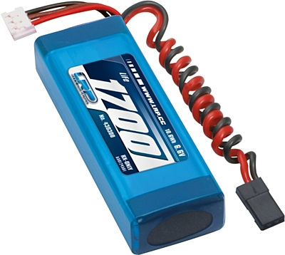 LRP VTEC LiFePo 1700mAh RX-Pack 2/3A Straight - RX-only - 6.6V
