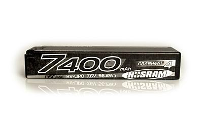 Nosram Graphene-4 Stock Spec 7400mAh 7.6V 2S 135C/65C HV LiPo (5mm, 302g)
