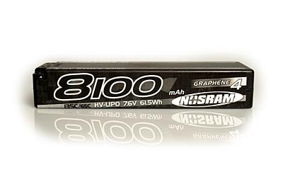 Nosram Graphene-4 Stock Spec 8100mA 7.6V 2S 135C/65C HV LiPo (5mm, 327g)