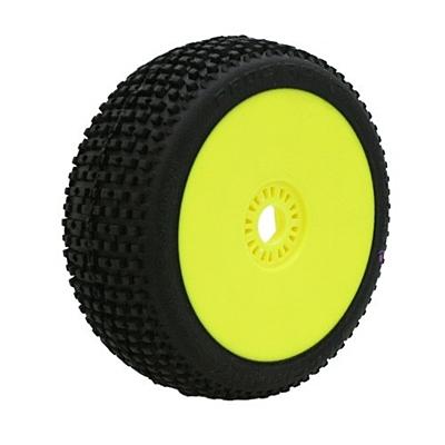 ProCircuit Marathon Purple (Super Soft Compound) Off-Road 1:8 Buggy Tires Pre-Mounted - Yellow (2pcs)