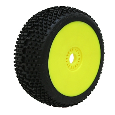 ProCircuit Sweet Shot Green (Soft Compound) Off-Road 1:8 Buggy Tires Pre-Mounted - Yellow (2pcs)