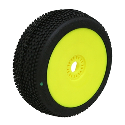 ProCircuit Hot Dices Green (Soft Compound) Off-Road 1:8 Buggy Tires Pre-Mounted - Yellow (2pcs)